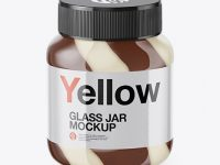 Glass Jar with Mixed Spread Mockup - High-Angle Shot