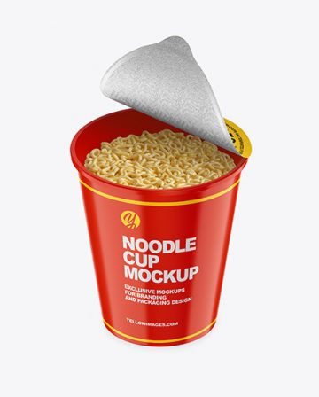 Glossy Noodle Cup Mockup