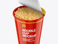 Glossy Cooked Noodle Cup Mockup