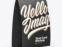 Tent Card Mockup - Half Side View