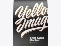 Tent Card Mockup - Front View