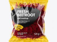 Plastic Bag With Shredded Beetroot Mockup