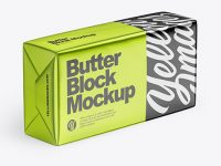 Metallic Butter Block Mockup