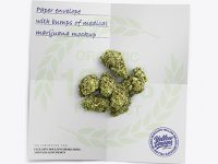 Paper Envelope with Marijuana Mockup