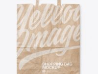 Kraft Shopping Bag Mockup