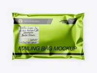 Metallic Mailing Bag Mockup - Top View