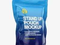 Glossy Stand Up Pouch Bag Mockup