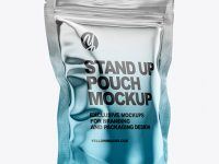 Metallic Stand Up Pouch Bag Mockup