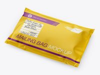 Glossy Mailing Bag Mockup - Half Side View