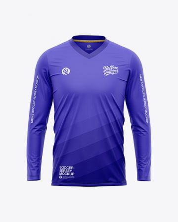 Men's LS Soccer Jersey Mockup - Front View