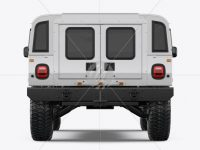 Off-Road SUV Mockup - Back View