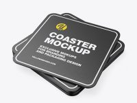 Textured Beverage Coasters Mockup