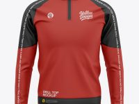 Men's Soccer Training Jersey - Front View - Football Squad Drill Top