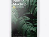 Glossy Poster w/ Tape Mockup