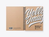 Opened Kraft Notebook Mockup