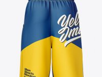 Compression Shorts Mockup – Back View