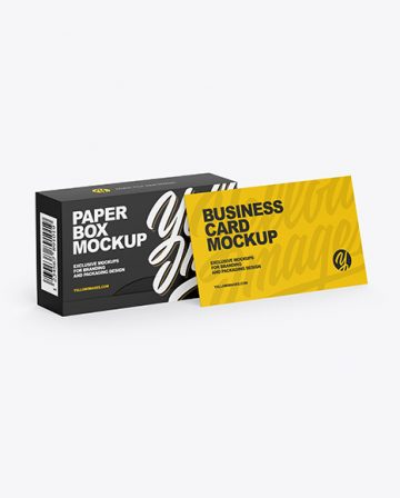 Paper Box & Business Card Mockup