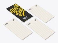 Four Paper Pads Mockup