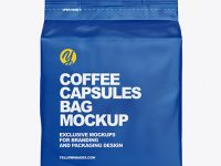 Matte Bag with Coffee Capsules Mockup