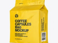 Glossy Bag with Coffee Capsules Mockup