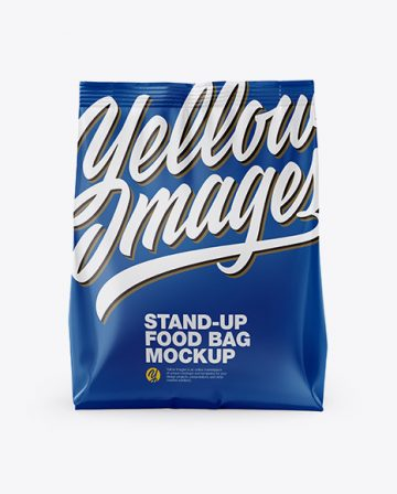 Stand-Up Bag Mockup - Front View