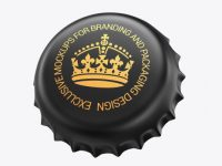 Matte Metallic Bottle Cap Mockup