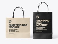 Two Paper Shopping Bags Mockup