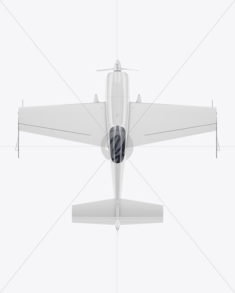 Sport Airplane Mockup - Top View
