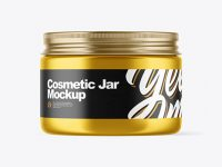 Metallic Cosmetic Jar Mockup
