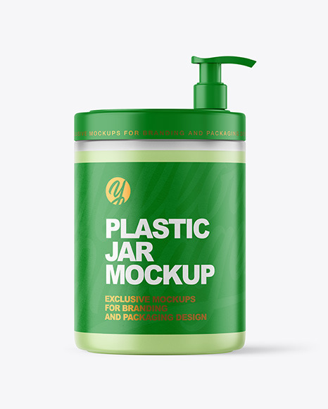 Frosted Jar with Pump Mockup