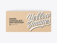 Kraft Paper Chocolate Bar Mockup