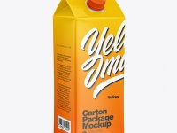 Glossy Juice Carton Package Mockup