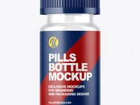 Clear Soft Gel Capsules Bottle Mockup