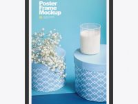 Advertising Poster Frame Mockup - Front View