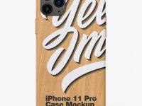 IPhone 11 Pro Wooden Case Mockup