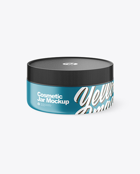 Matte  Cosmetic Jar Mockup - High-Angle Shot
