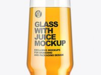 Clear Glass With Juice Mockup