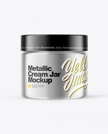Metallic Cream Jar Mockup