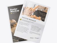 Two Glossy Posters Mockup