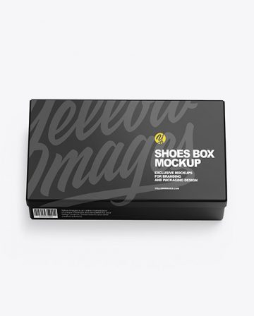 Glossy Shoes Box Mockup