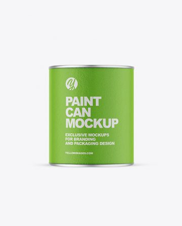 Textured Paint Can Mockup