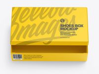 Matte Shoes Box Mockup