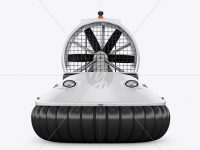 Hovercraft Mockup - Front View