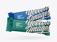 Two Matte Snack Bars Mockup