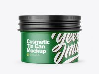 Matte Cosmetic Tin Can Mockup