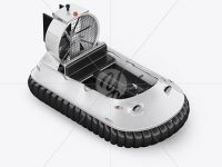 Hovercraft Mockup - HalfSide View (high angle shot)
