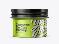Metalic Cosmetic Tin Can Mockup