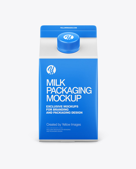 Carton Dairy Packaging Mockup - Front View