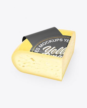 Quarter of Cheese Mockup