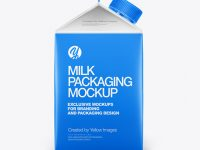Carton Dairy Packaging Mockup - Side View